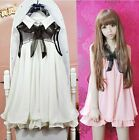 Kawaii Clothing Cute Ropa Korean Japanese Harajuku Dress Gothic Lolita Pink Bow