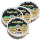 MAXIMA ULTRA GREEN Fishing Line : Fly Leader Tippet Material on 100m Spools