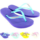 Womens Havaianas Slim Logo Beach Flip Flops Summer Holiday Sandal UK Sizes 1-8