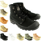 Womens Palladium Pampa Hi Trainer Lace Up Canvas Ankle High Gusset Boots UK 3-8