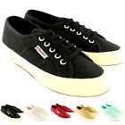 Womens Superga 2750 Cotu Classic Plimsoll Lace Up Canvas Casual Trainers UK 3-8