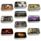 Animal Art Slim Hinged 1oz Tin Tobacco Storage Choose Your Design