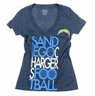 Reebok NFL Women's San Diego Chargers Deep V-Neck Football Tee - Heather Blue $14.99 USD on eBay