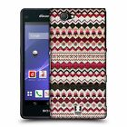 HEAD CASE DESIGNS KNITTED CHRISTMAS HARD BACK CASE FOR SONY PHONES 4