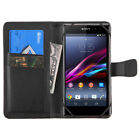 Solid Wallet Phone Case Folio Stand Protector Cover Secure Credit Card Holder