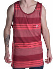 LRG Men's Faded Washed Striped Reds Tank Top Shirt