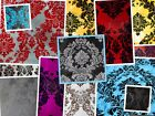 "Taffeta Damask Flocking Fabric 60"" Wide Sold by the yard"