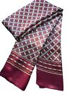 Fashion Men's 100%Pure Mulberry silk Double sided  long scarf/black/brow/red