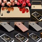 Luxury Aluminum Metal Bumper Frame+Mirror Hard Cover Case For Huawei P8 /P8 Lite