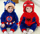 Baby newborn Toddler Animal Romper hooded crawling cloth Costume Captain America