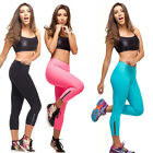 spp1 Celeb Style Neon Colour Zip 3/4 Fitness Yoga Activewear Leggings Thights