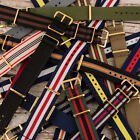 Yellow Gold Buckle Premium NATO Nylon Replacement Watch Strap Band image