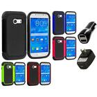 For Samsung Galaxy Ace Style Hybrid Rugged Hard Soft Case Cover 2X 2A Chargers for sale  Chatsworth