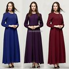 Women Maxi Islamic Muslim Kaftan Abaya Chiffon Long Sleeve Party Maxi Dresses