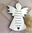 Angel Silver Mirror Acrylic Plaque Sign. If Tears Could Build A Stairway A19