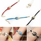 HOT Retro Lovely Cute Owl Metal Charm Women Leather Wrap Bracelet Jewelry