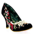 Womens Irregular Choice Pearly Girly Court Shoes Floral High Heels UK 3.5-8.5