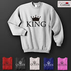 The Crowned King & Queen Top Quality Sweatshirts HIS & HERS ALL SIZES & COLOURS