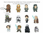 Full set of 12 Pcs Star Wars Characters Wall Stickers Nursery Decal Boys Decor