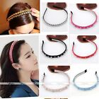 Punk Pop Headband Bow Spike Rivets Studded Leather Band Alice Hair Band Gothic