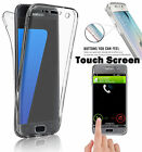 Ultrathin Soft Clear Shockproof Silicone TPU 360° Full Transparent Case Cover