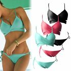Sexy Women Bikini Triangle Set Bandeau Push-Up Padded Swimwear Beach Swimsuit