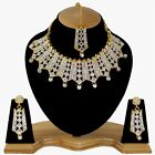 Indian Bollywood Style Fashion Gold Plated Bridal Jewelry Necklace Set, Style 11