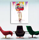 Hot Summer Rain Stretched Canvas Print Framed Wall Art Home Decor Painting Gift