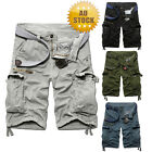 Men's Cargo Pants Casual Military Combat Army Shorts Zipper Trousers Pockets
