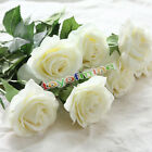 10/20 Head Real Touch  Rose Flowers For wedding Bouquet Decoration 8 Colors
