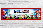Personalized Super Mario Name Poster with Color Border Wall Decor Custom Banner