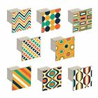 Budget Aluminium Square Knobs Retro Patterns 36.5mm Cupboard Drawer Door Handles