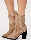 NEW FREE PEOPLE FP Silk City Suede Mid Calf Boots, Tan - MSRP $178.00!
