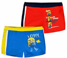 Boys Official Minions Trunk Fit Swimming Shorts New Kids Despicable Me Swimwear