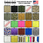 TOUGH-GRID 750lb Paracord - Type 4 Mil Spec - 100% Nylon - Made In The USA!