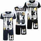 Kids T-shirt & Shorts Set No3 Miracle Emoji Print Girls Boys Top Bottoms 3-14 Y