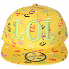 UNISEX STATE PROPERTY  SNAP BACK CAP HAT LOL  DESIGNS AND YELLOW ORANGE  COLOUR