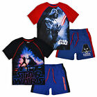 Boys Star Wars 2 Piece Set Boys Short Sleeved T Shirt And Shorts Age 3 4 6 8 Yrs