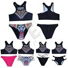 Sexy Women High Neck Crop Top Push Up Bikini Set Swimwear Swimsuit Beachwear