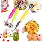 C8 US Kitchen DIY Fruit Carving Knife Ice Cream Scoop Spoon Fruit Cutter