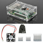 EEEKit for Raspberry Pi 3 Model B + Clear Box Case+Cooling Fan+Aluminum Heatsink
