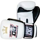 WHITE DUO GEAR 'RAJA' BOXING SPARRING AND PADWORK KICKBOXING GLOVES
