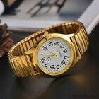 Ladies Elegant Elastic Stainless Steel Wristwatch Quartz Womens Dress Watch