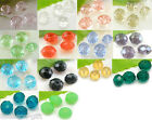 70 Crystal Glass Faceted Rondelle Beads 8mmx6mm M0136