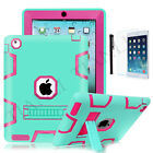For Apple iPad 2 3 4 iPad mini Air Pro Hybrid Rugged Shockproof Stand Case Cover