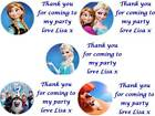 63 Personalised Frozen Birthday Stickers 3for2  Party Thank You Seals Labels