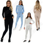 New Womens Gorgeous Two Piece Ribbed Full Length Tracksuit Size S M  8 10 12 14