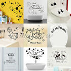Removable Toilet Seat Wall Stickers Vinyl Art Wallpaper Bathroom Decor Decals UK