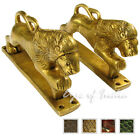 "LARGE SELECTION - 6"" PAIR BRASS LION CABINET PULLS DOOR HANDLES Antique Bronze I"