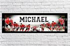 Personalized Chicago Blackhawks Name Poster with Border Mat Art Wall Banner $16.0 USD on eBay